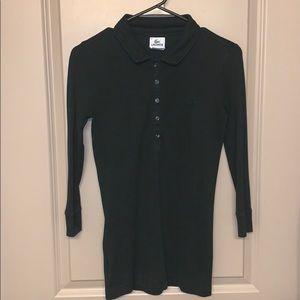 Lacoste polo long sleeve women's size 36 (Black)